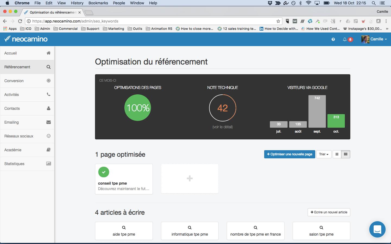 Optimisation du référencement grâce à Neocamino