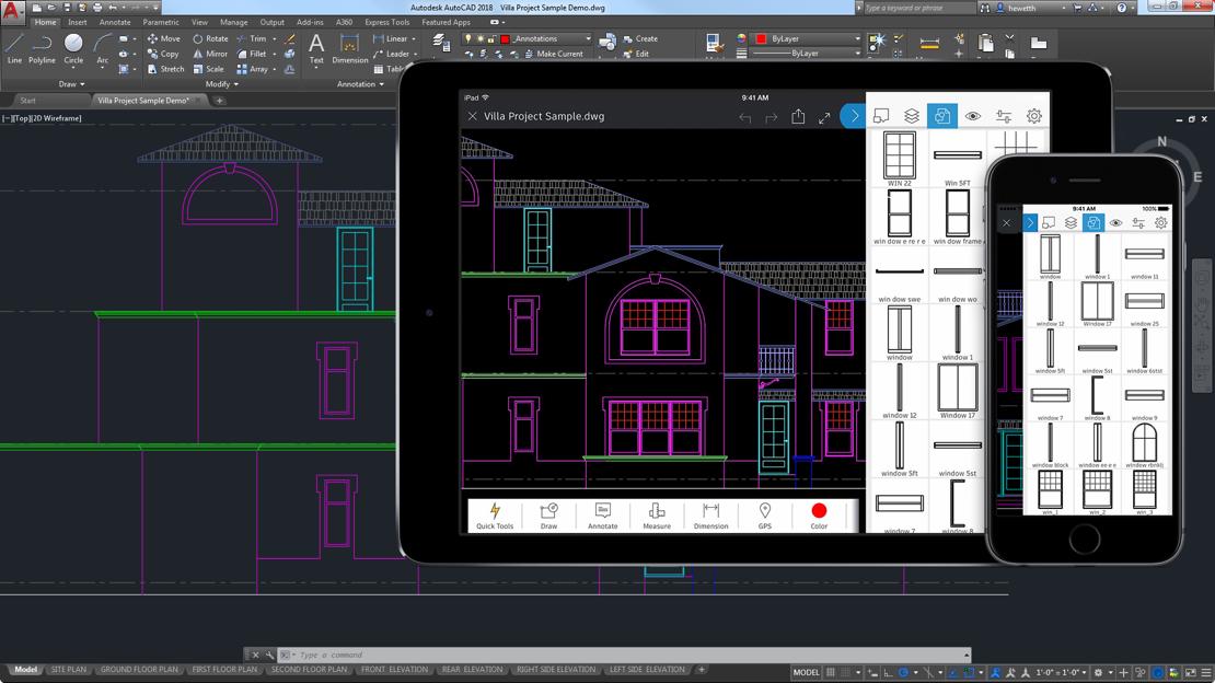 Collaboration avec l'application mobile AutoCAD et A360