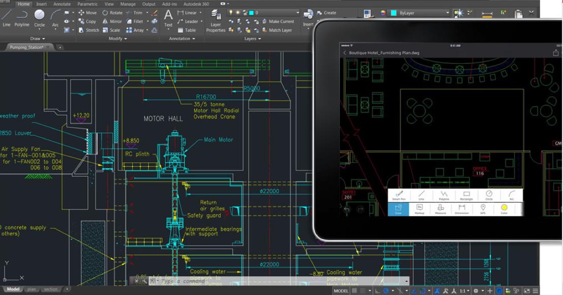 Dessinez, modifiez et visualisez des dessins CAO2D sur plusieurs appareils Mesurez vos dessins avec précision sur site Accédez à vos dessins via les services de stockage cloud les plus connus