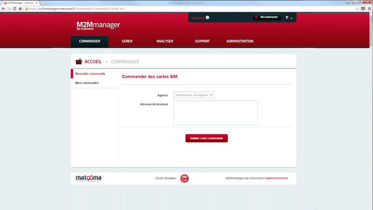 M2MManager : gestion des commandes