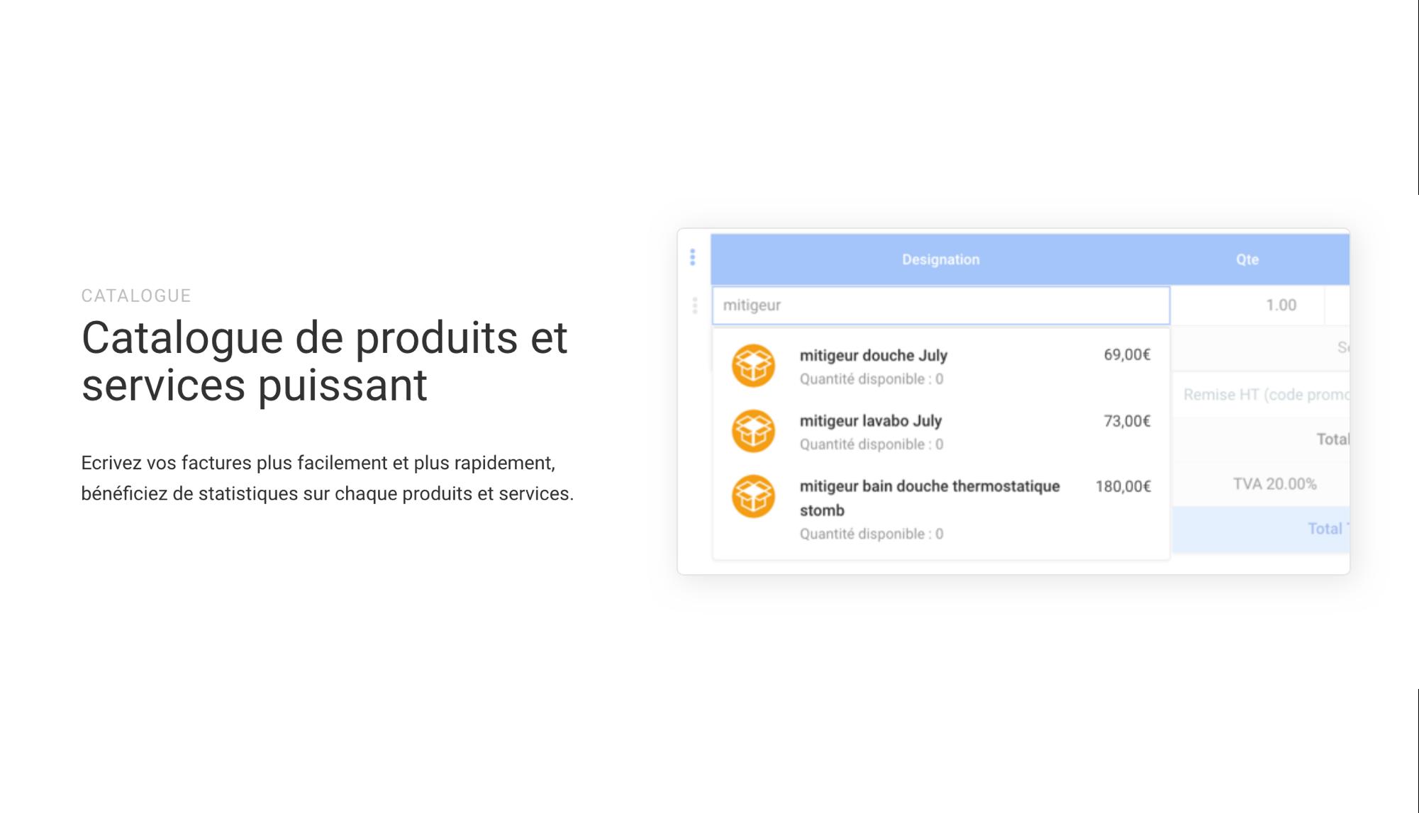 Catalogue de produits et de services connecté