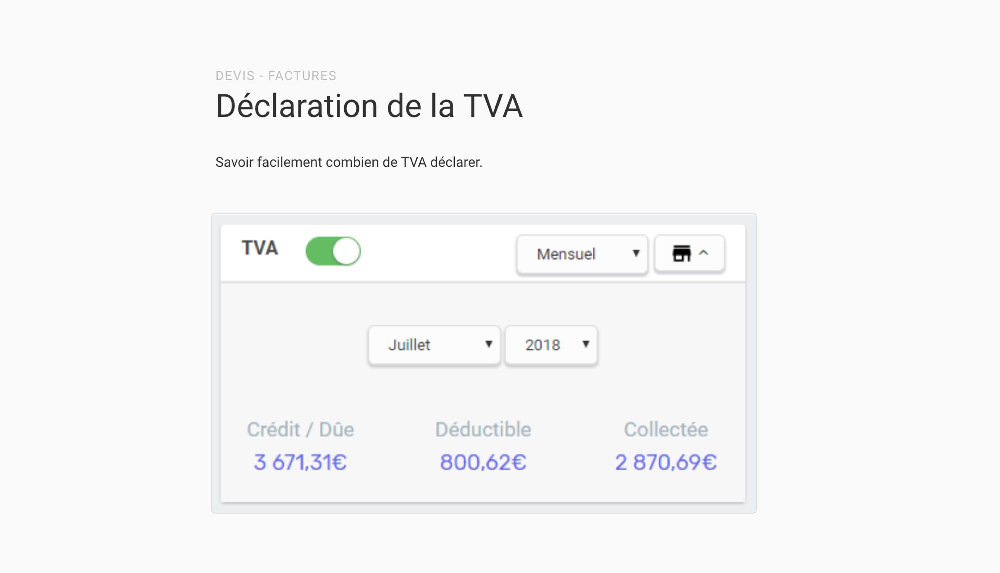 Déclaration TVA