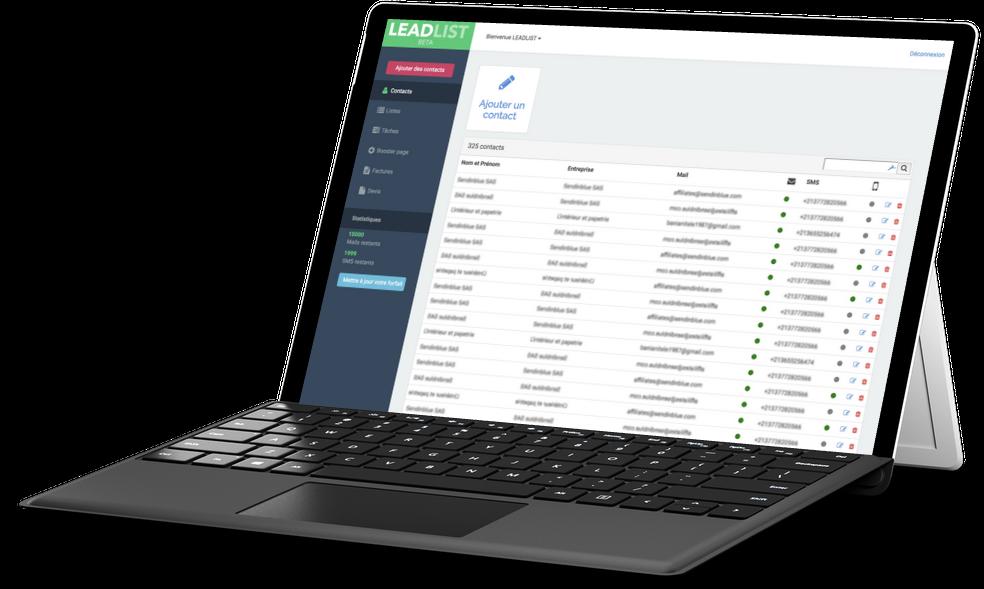 Avis Leadlist : Suivez l'évolution de vos prospects - CRM pour TPE - Appvizer