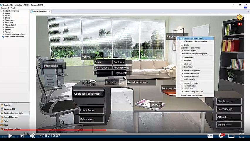 Interface bureau virtuel personnalisable