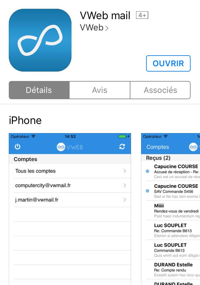 VWeb mail iOS