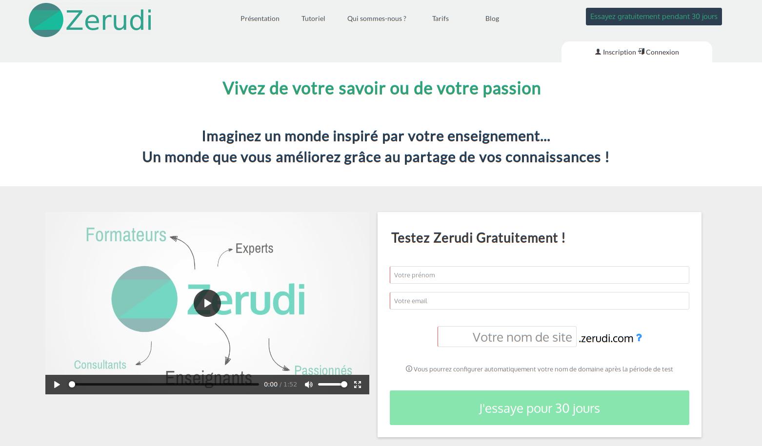 Page d'accueil zerudi