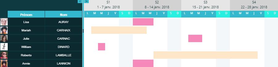 Planning Congés