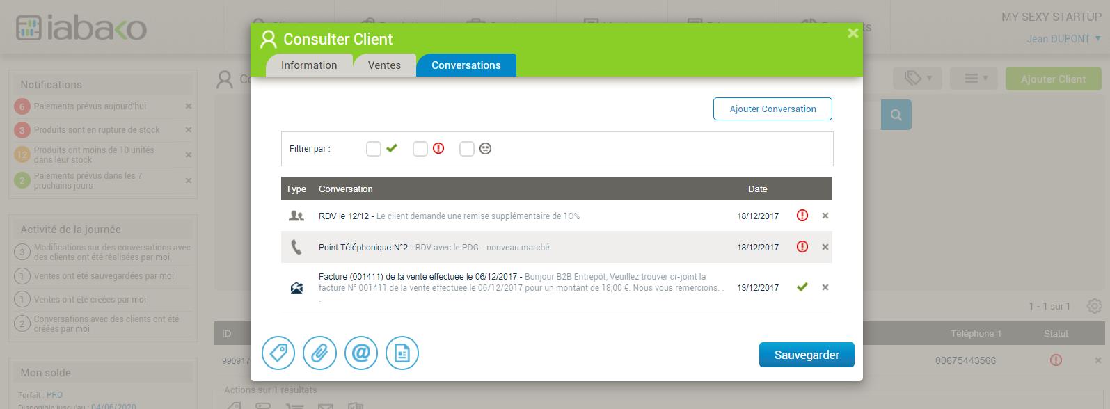 Client - conversations