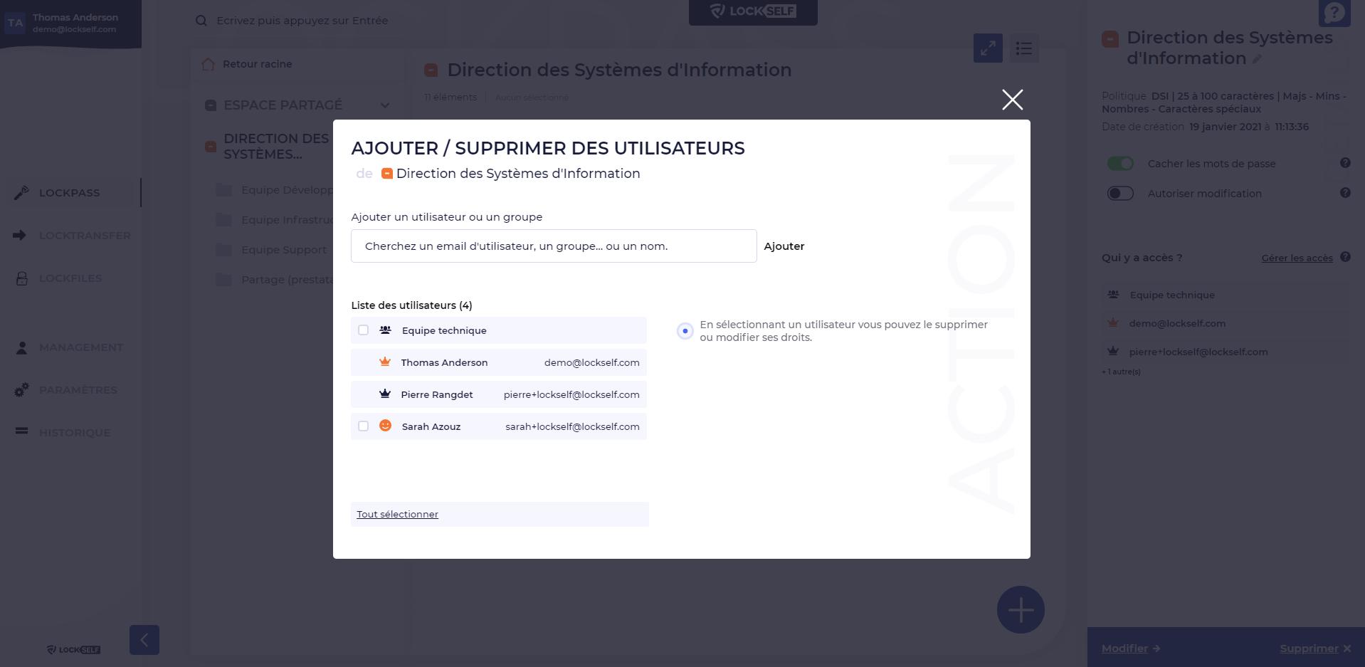 LockPass-LockPass - Donner des droits d'accès