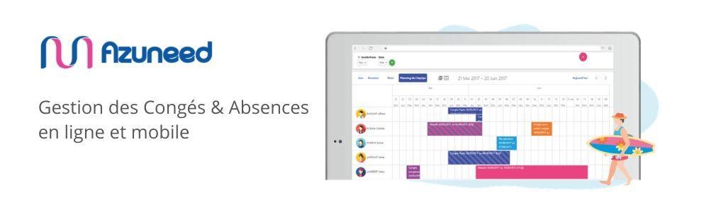 Avis Azuneed RH - Planning congés : La gestion simplifiée des Plannings congés et des absences - appvizer