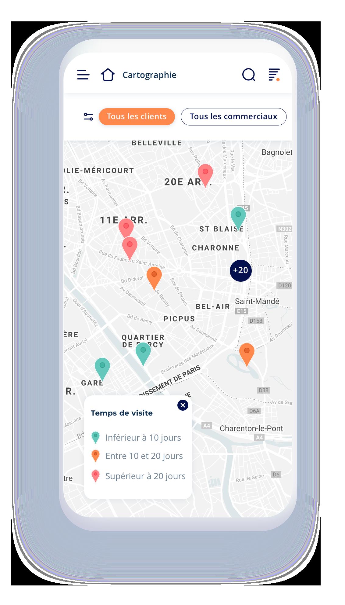 Géolocalisation et itinéraire optimisé avec Waze. Raccourcis rapides. Gestion des tournées et des rendez-vous