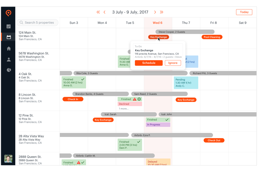 Properly Calendar synchronized with your booking calendar