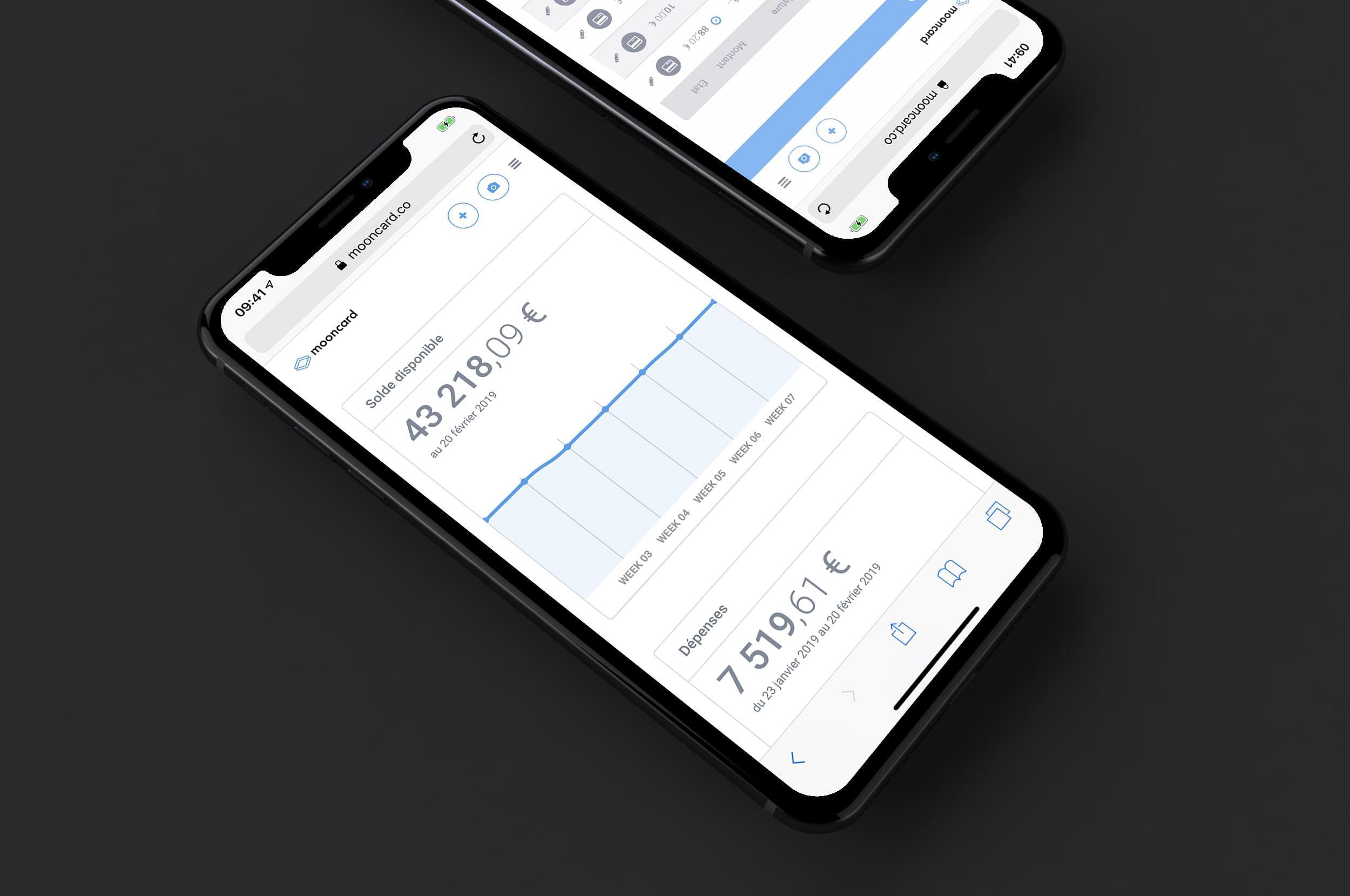 Application de gestion notes de frais Mooncard
