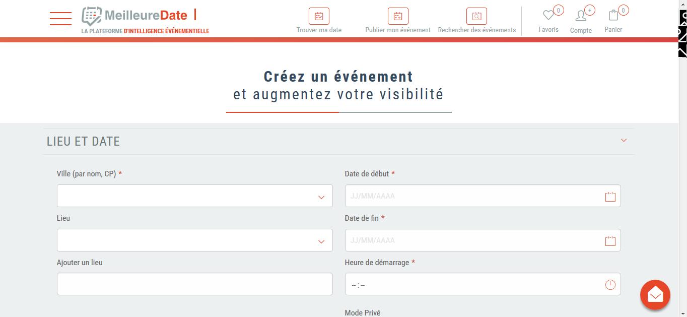 Référencez vos événements sur notre base de données pour plus de visibilité