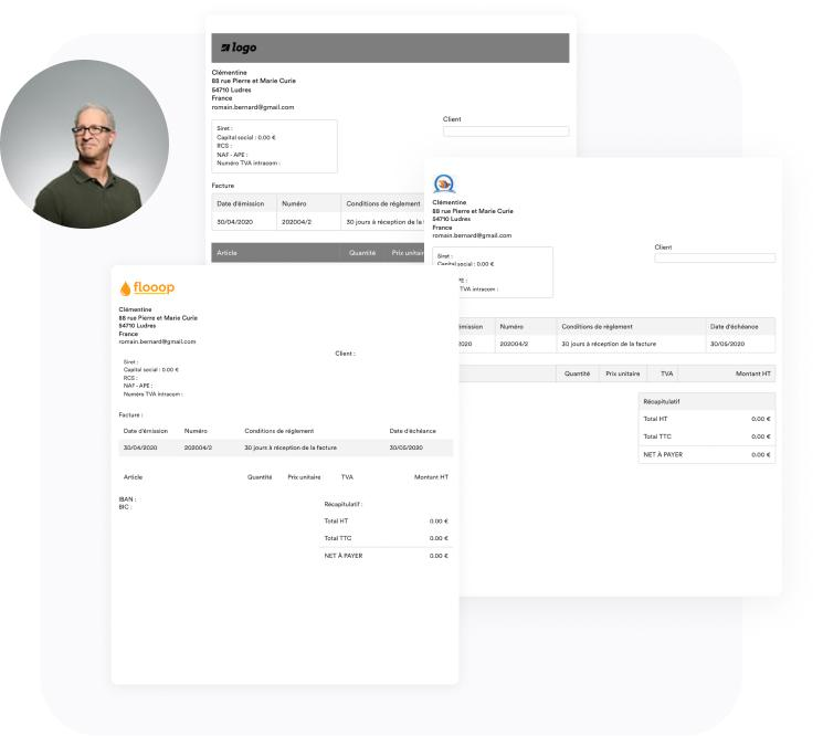 Choisissez un outil de facturation tout-en-un qui vous permet de personnaliser vos factures, devis et autres documents en étant 100% en conformité avec la règlementation en vigueur.