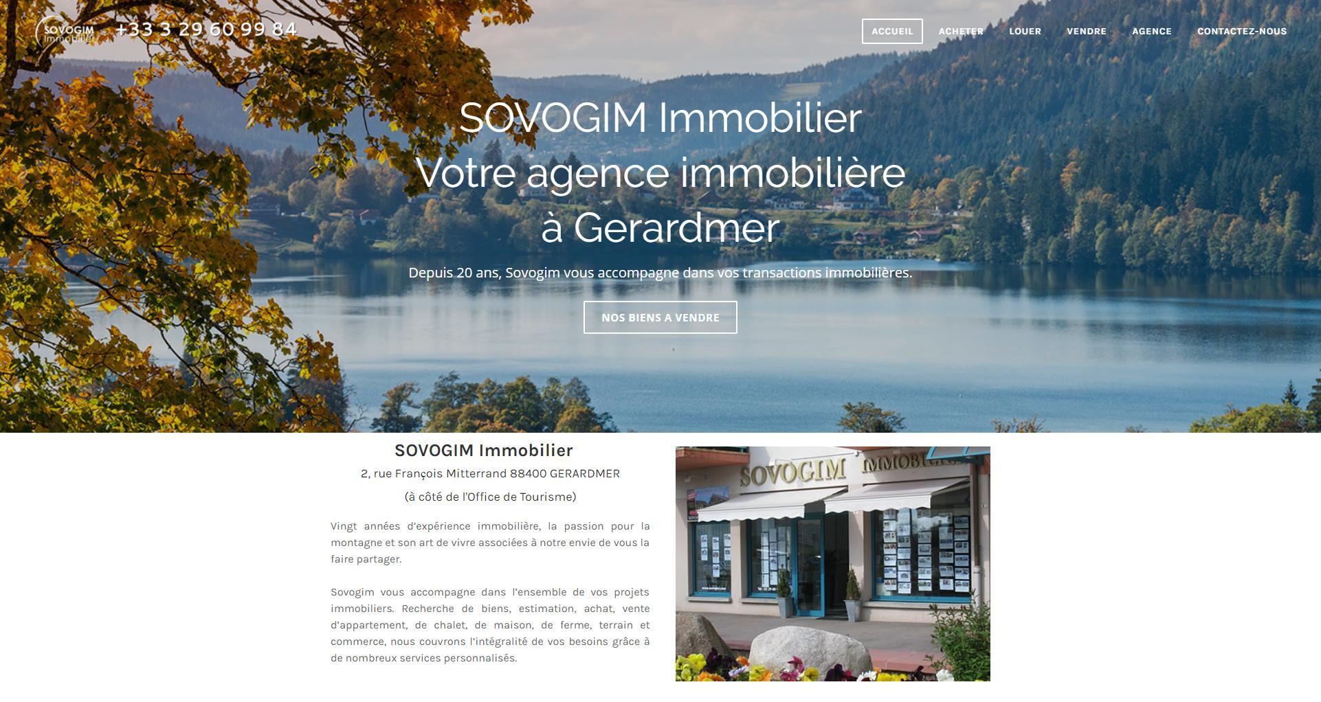 Site internet client Sovogim - Wstudio
