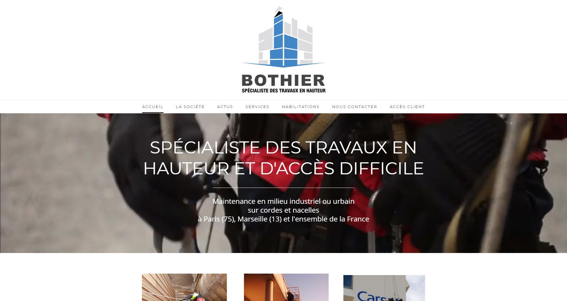 Site web client Bothier - Wstudio