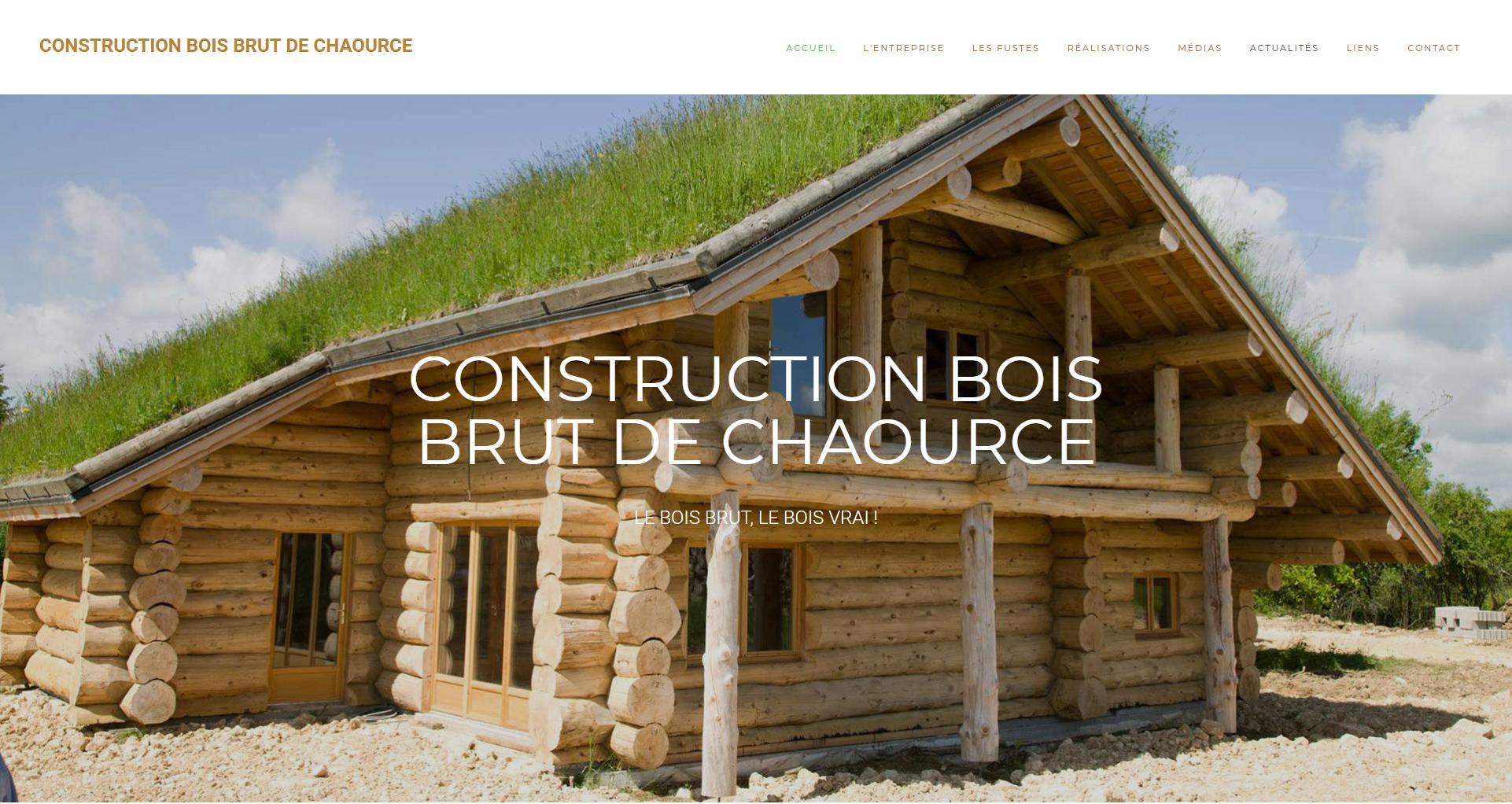 Site internet client Bois Brut Chaource - Wstudio