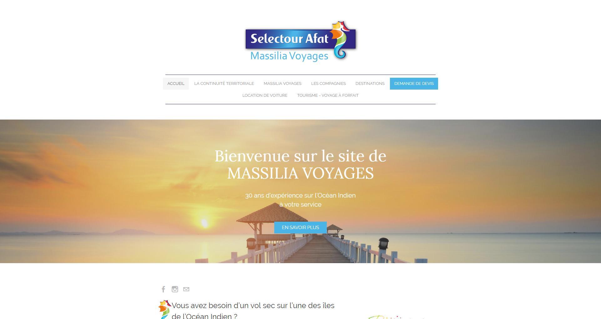 Site web client Massilia Voyages - Wstudio