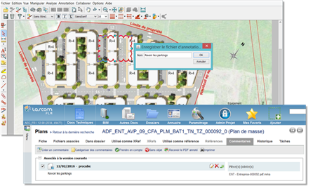 Exemple de visualisation au travers de l'application PLM-EDMS