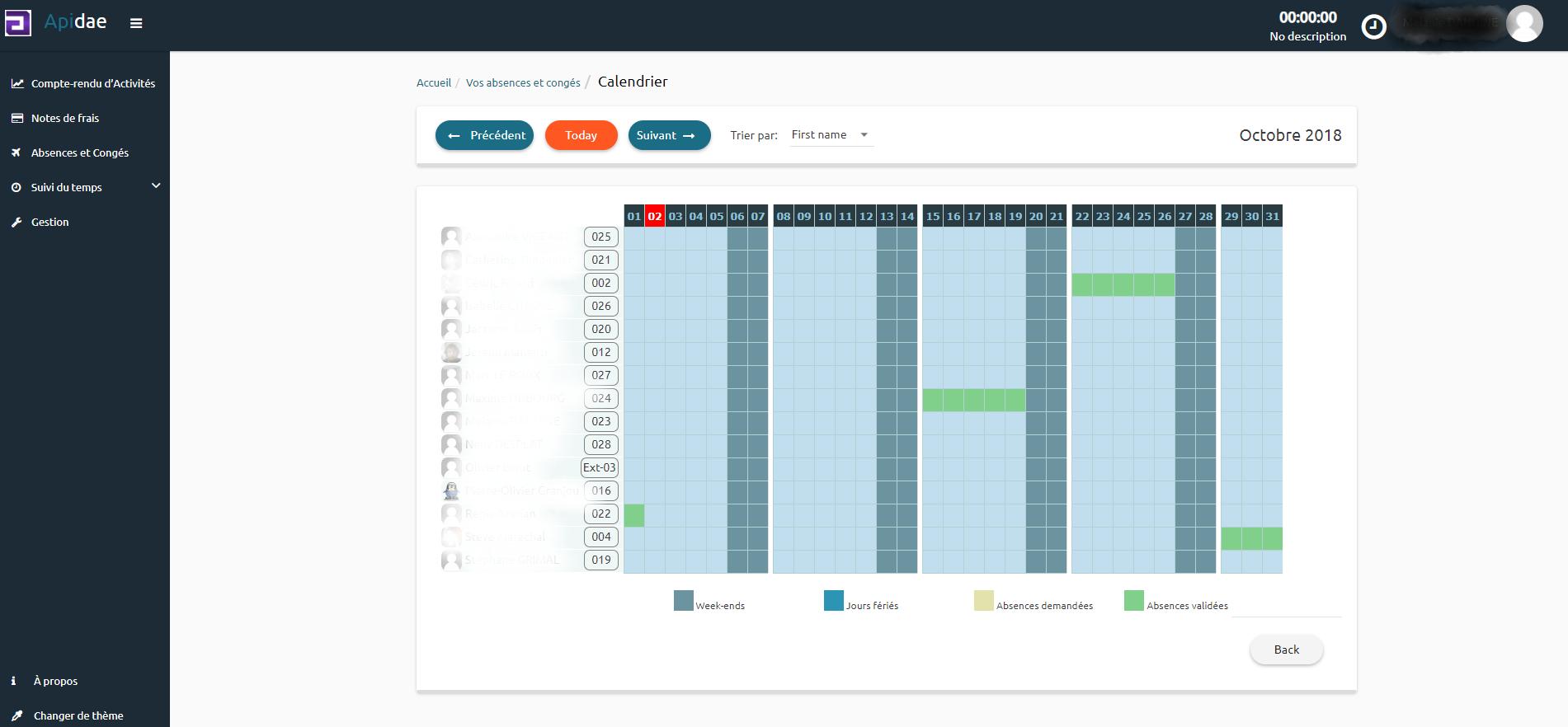 Visualiser le calendrier des absences pour organiser vos projets