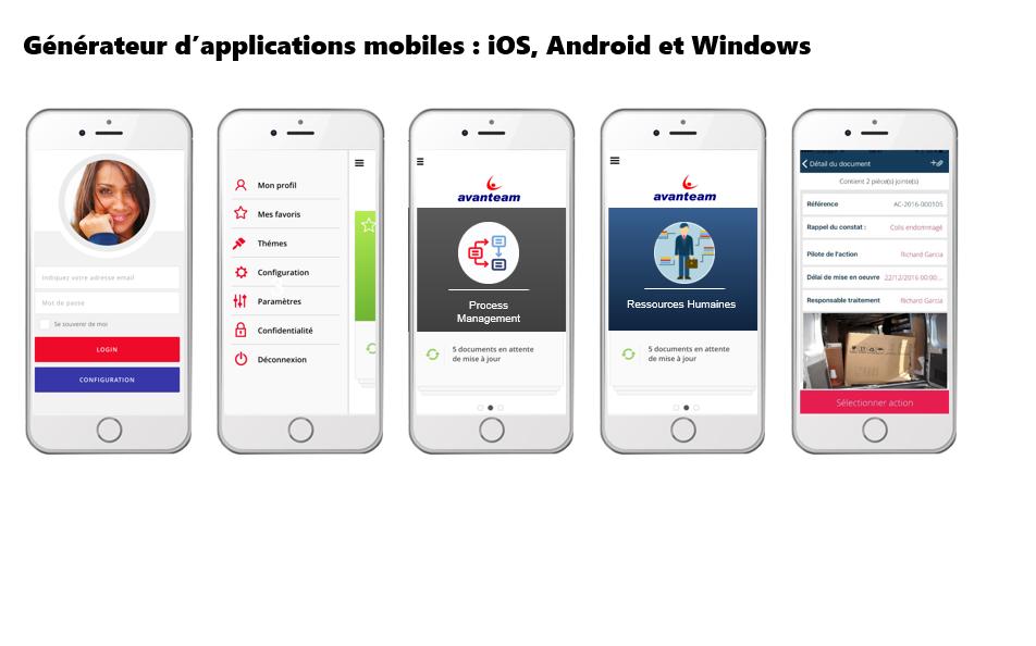 Vous pouvez créer des applications mobiles