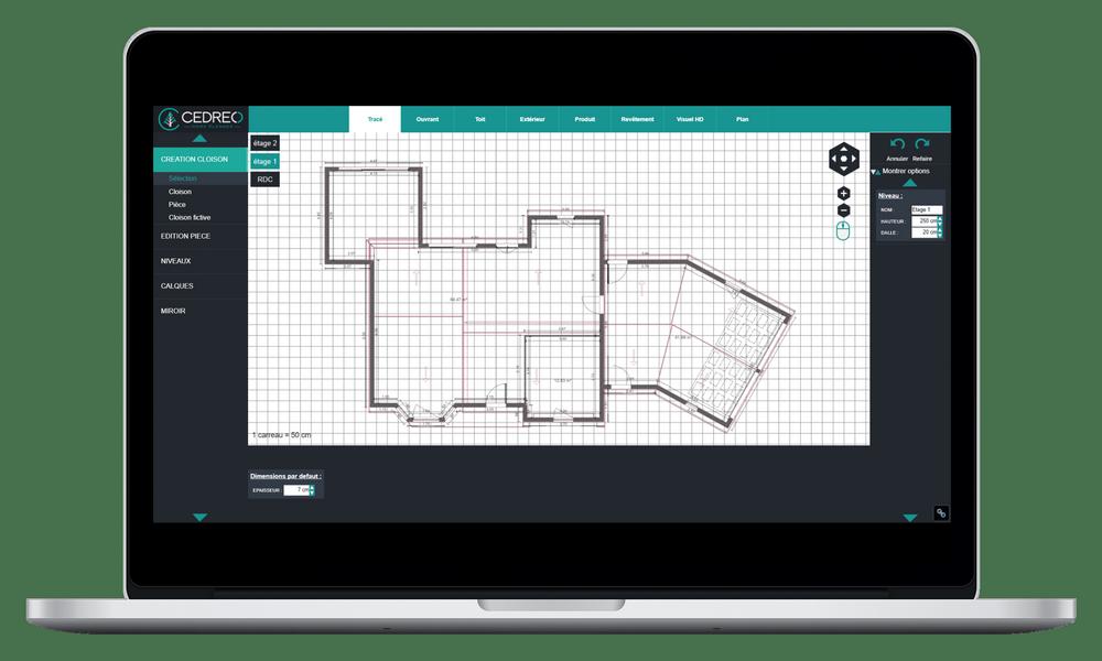 Dessinez votre plan de maison 2D avec nos outils d'aide au tracé