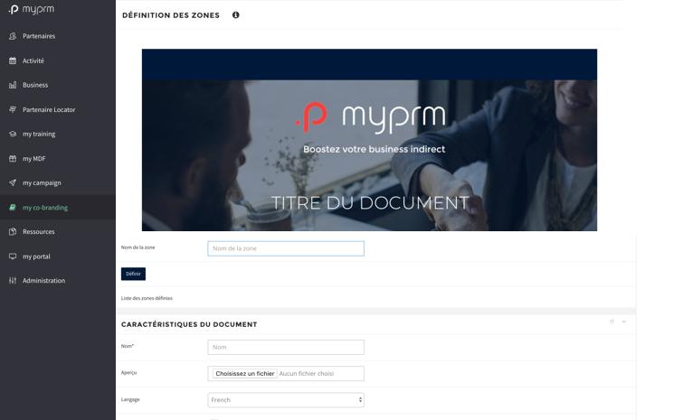 Laissez à vos partenaires la possibilité de personnaliser vos documents en fonction de zones que vous aurez pré-définies.