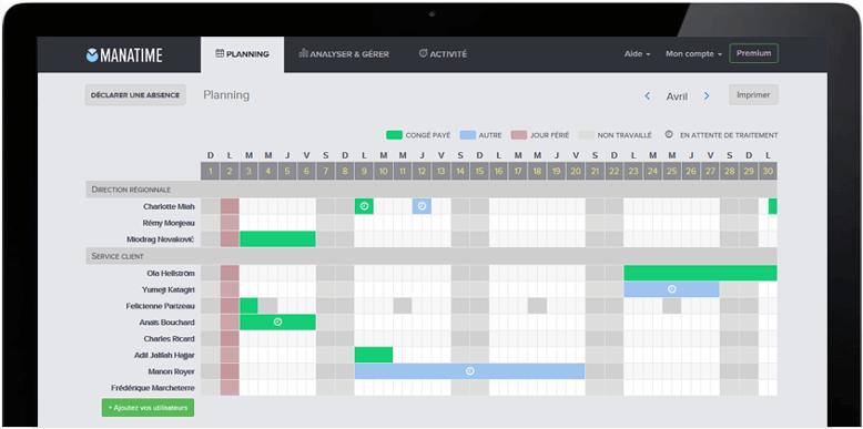 Avis ManaTime Congés : Planification des congés et gestion de l'activité - Appvizer
