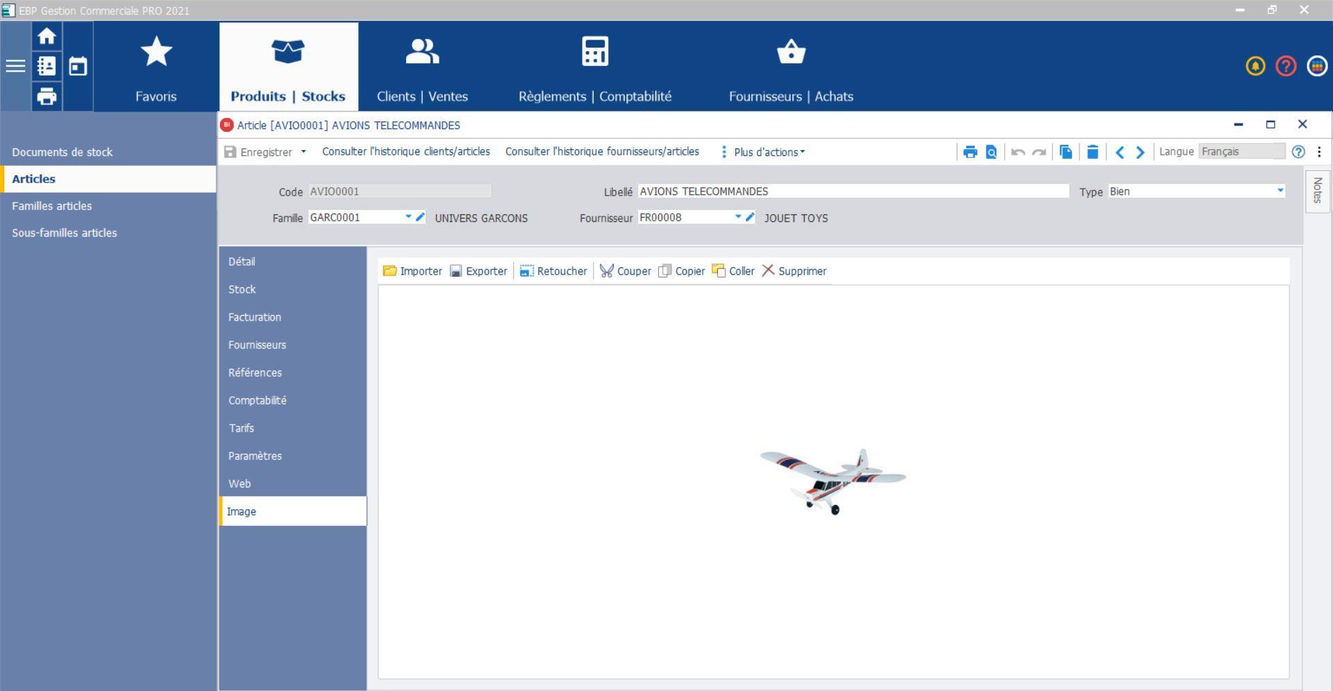Insérez des images d'articles directement dans votre devis avec EBP Gestion Commerciale en ligne