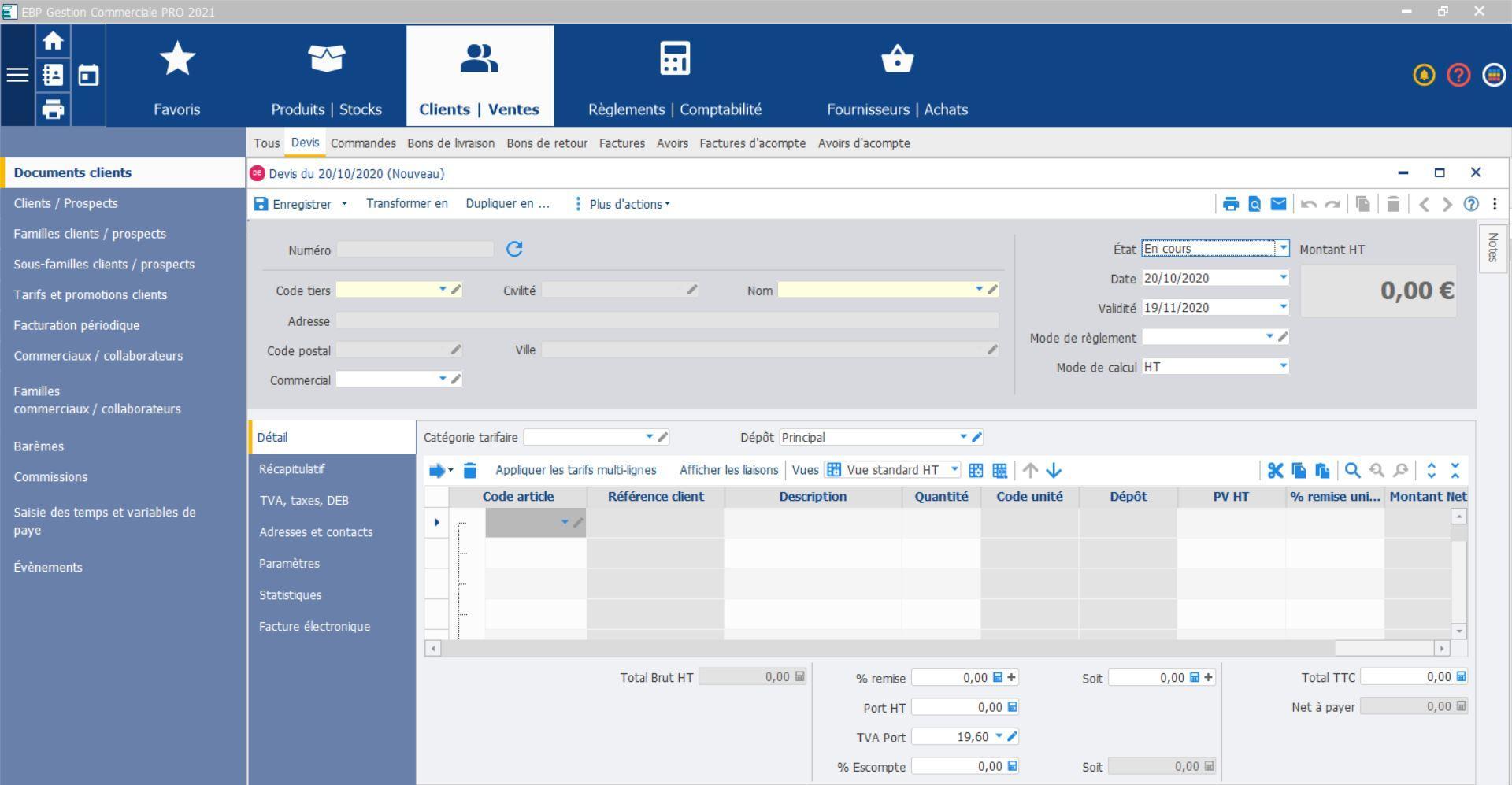 Créez vos devis et factures avec EBP Gestion Commerciale en ligne