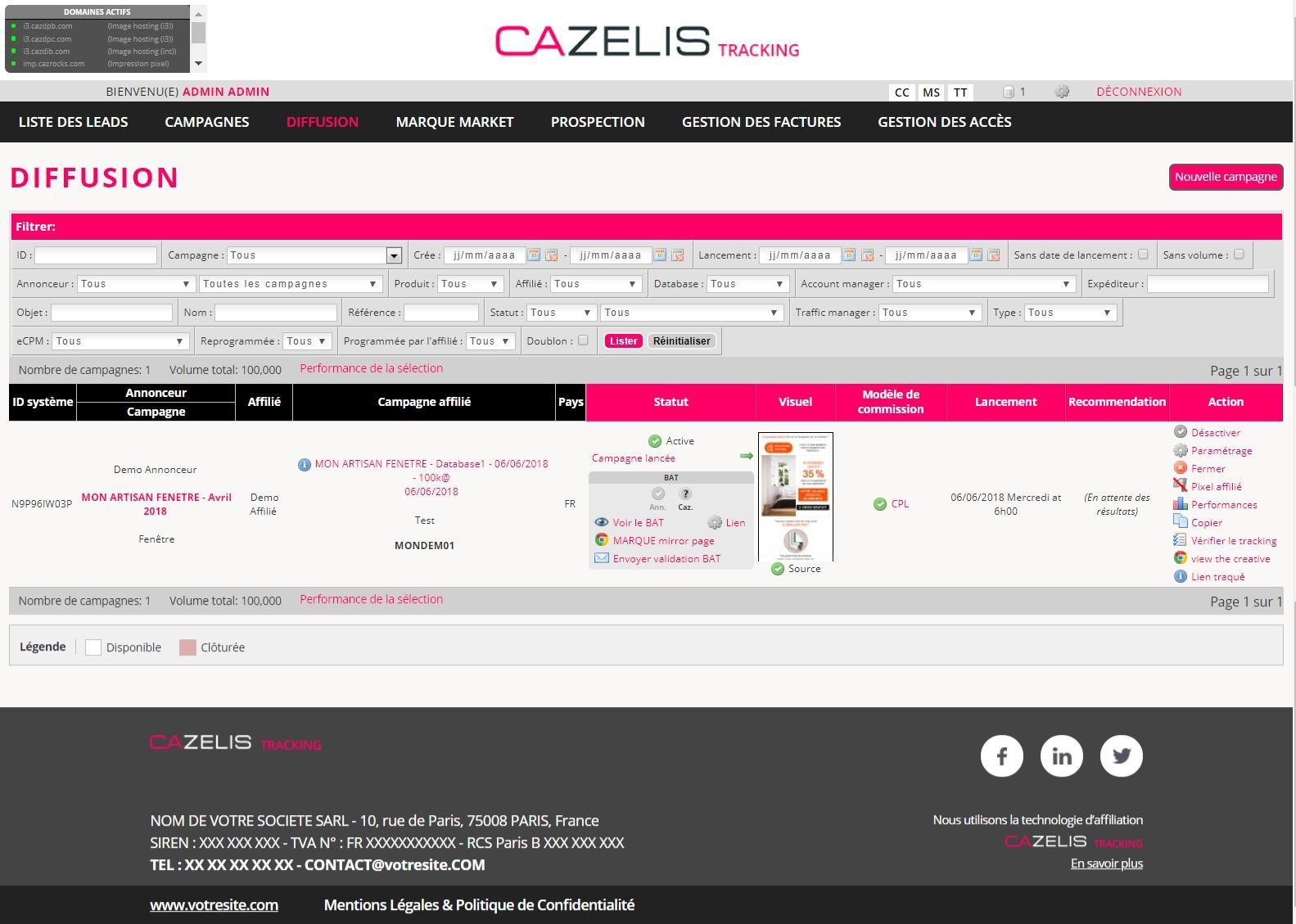 Avis CAZELIS Tracking : Votre Plateforme d'affiliation en marque blanche - appvizer