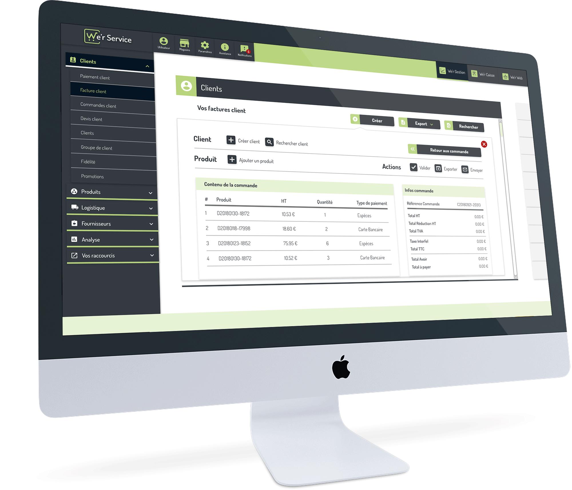 We'r Gestion, un logiciel ERP global et complet pour la gestion commerciale