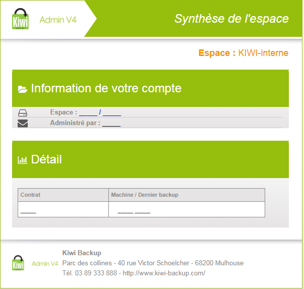 Kiwi Backup-synthese-de-lespace