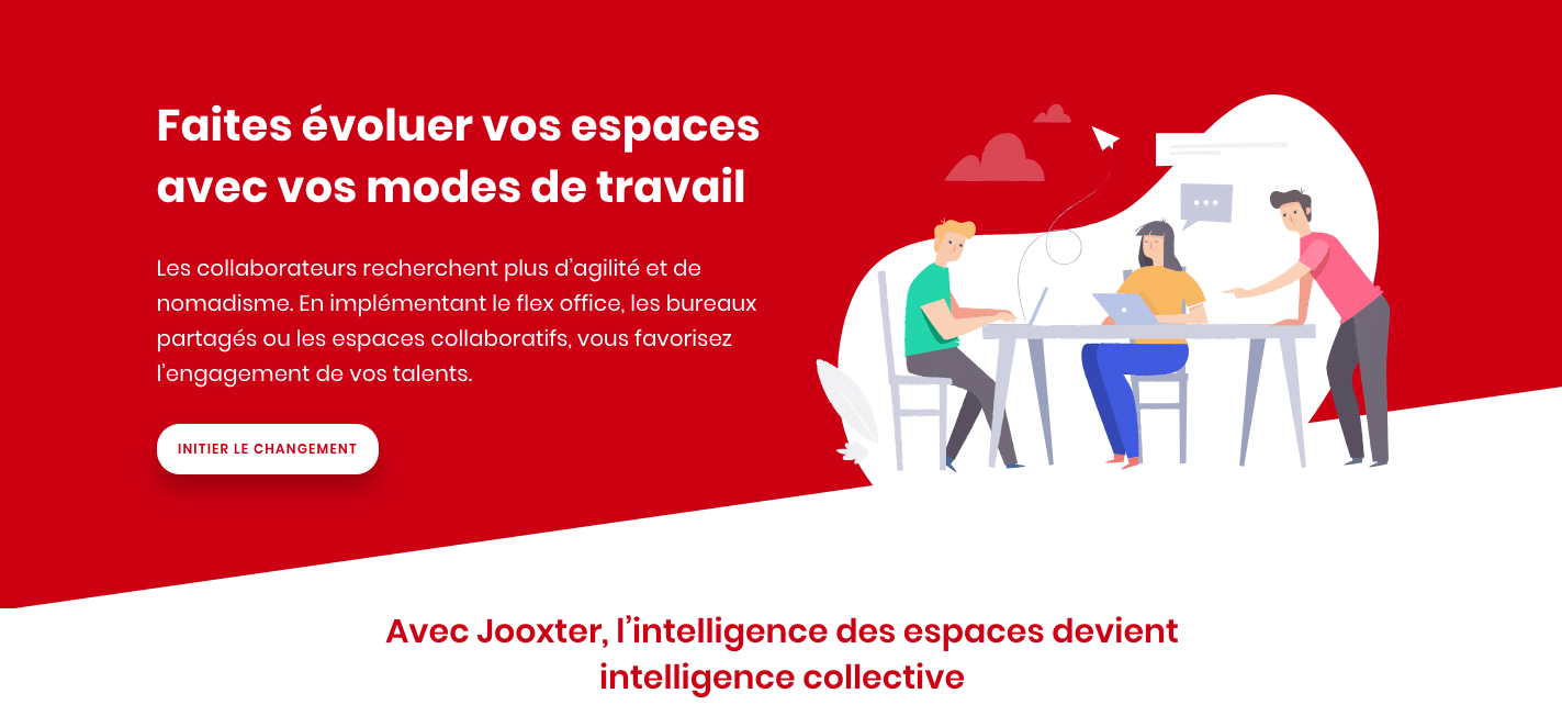 Jooxter permet de passer aux nouveaux modes de travail (Flex Office, Nomadisme, Activity-Based Working).