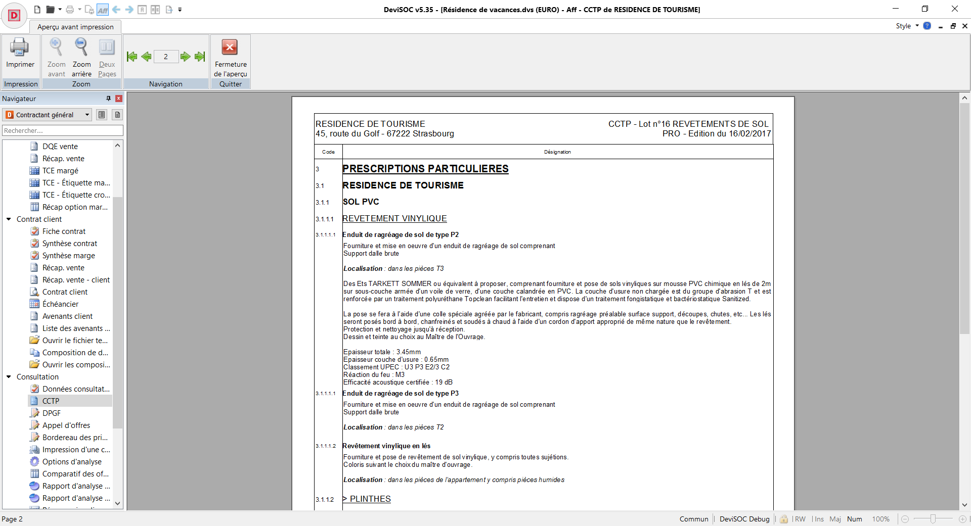 Document CCTP en Aperçu