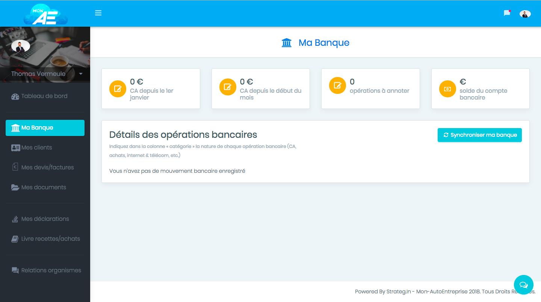 Synchronisation du compte bancaire pour automatiser entièrement la gestion