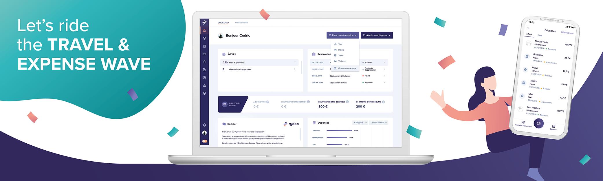 Avis Rydoo : Notes de frais et voyages à partir de 50 utilisateurs - appvizer