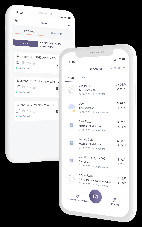 Rydoo Travel & Expense - application mobile pour la gestion des notes de frais et voyages d'affaires