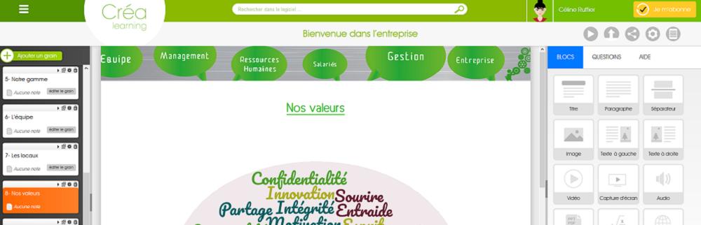 Avis Créa Learning : L'outil auteur le plus simple et le plus intuitif du marché - appvizer