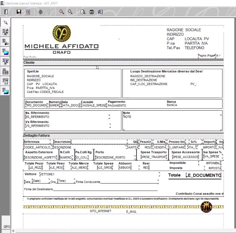 Commande client au format PDF