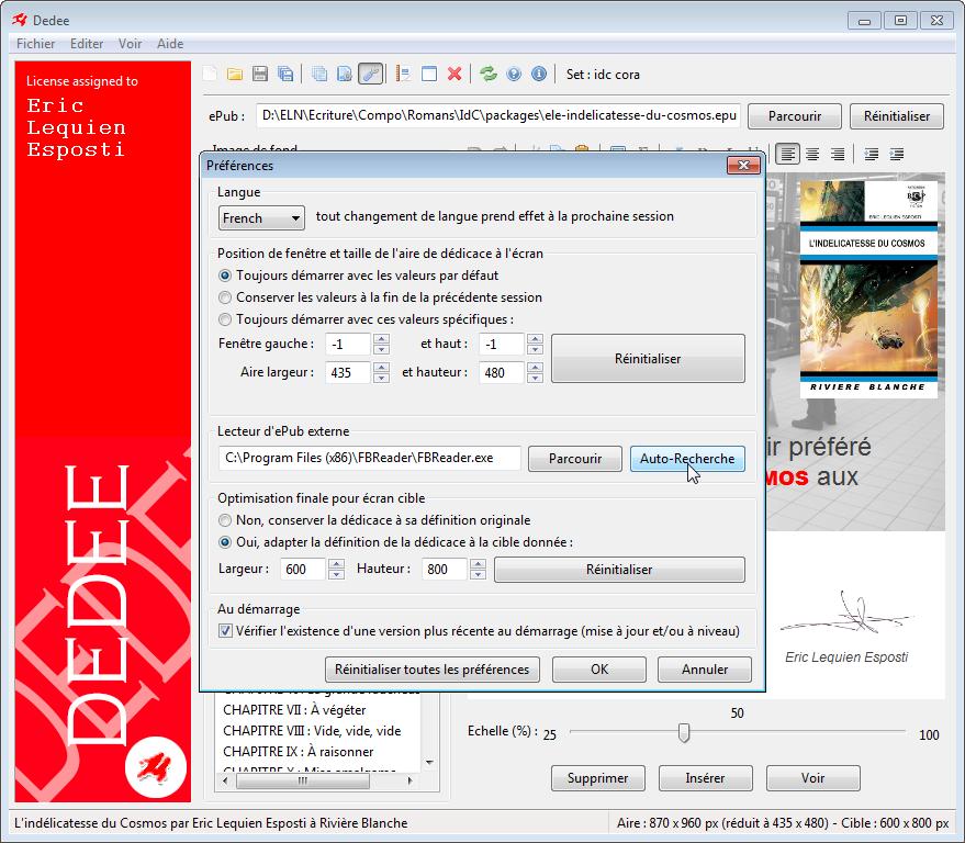 Configuration sous Windows