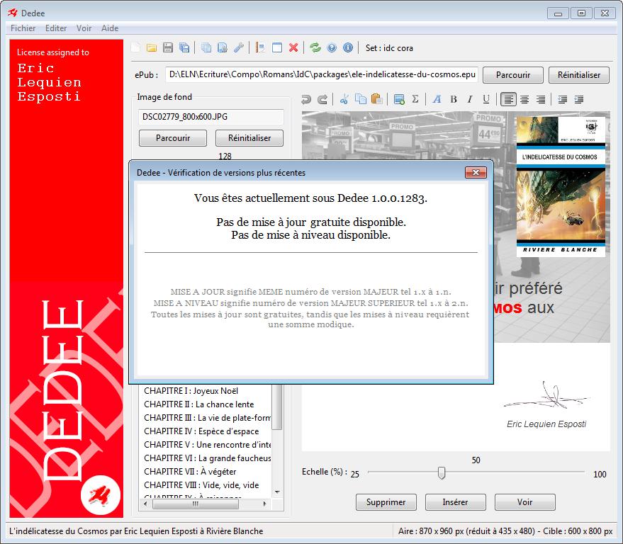 Vérification de version sous Windows