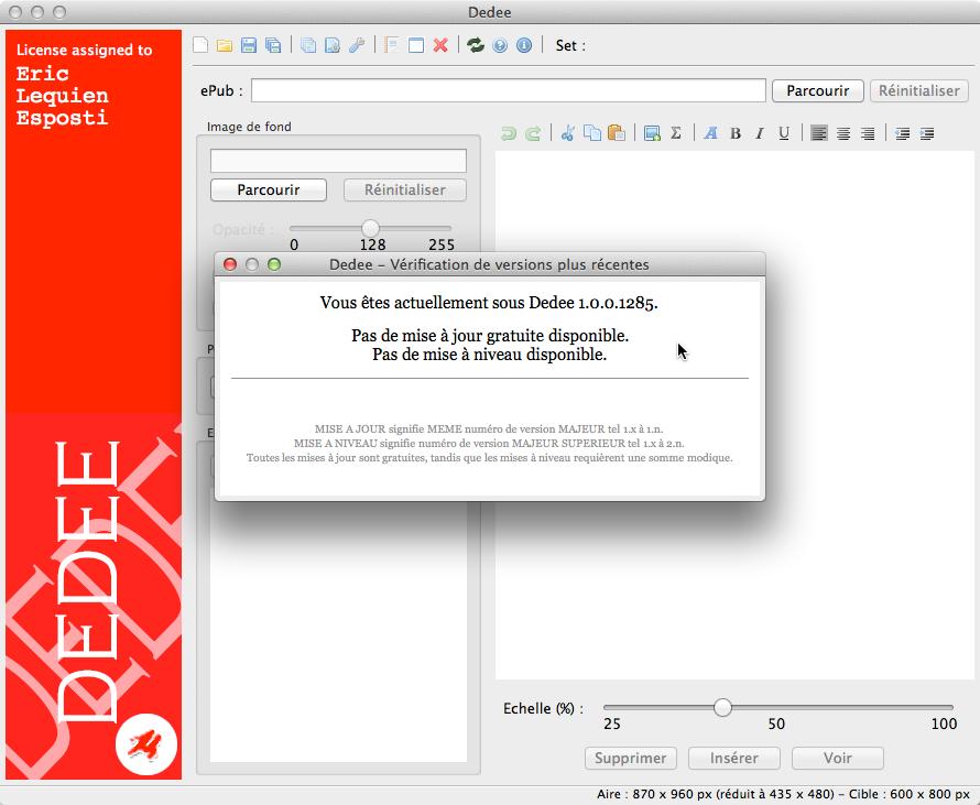 Vérification de version sous OS X et macOS
