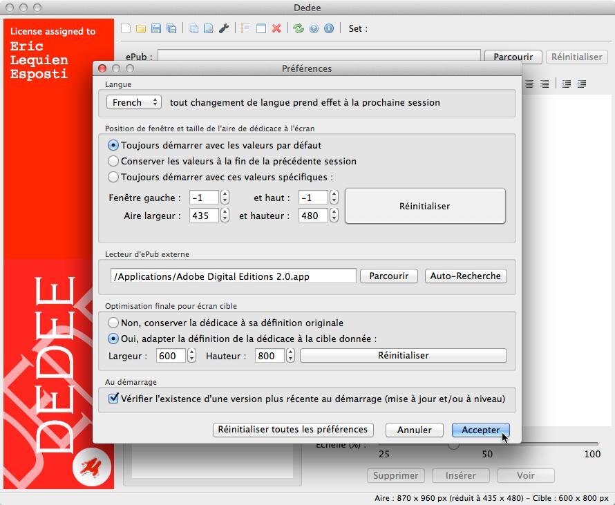 Configuration sous OS X et macOS