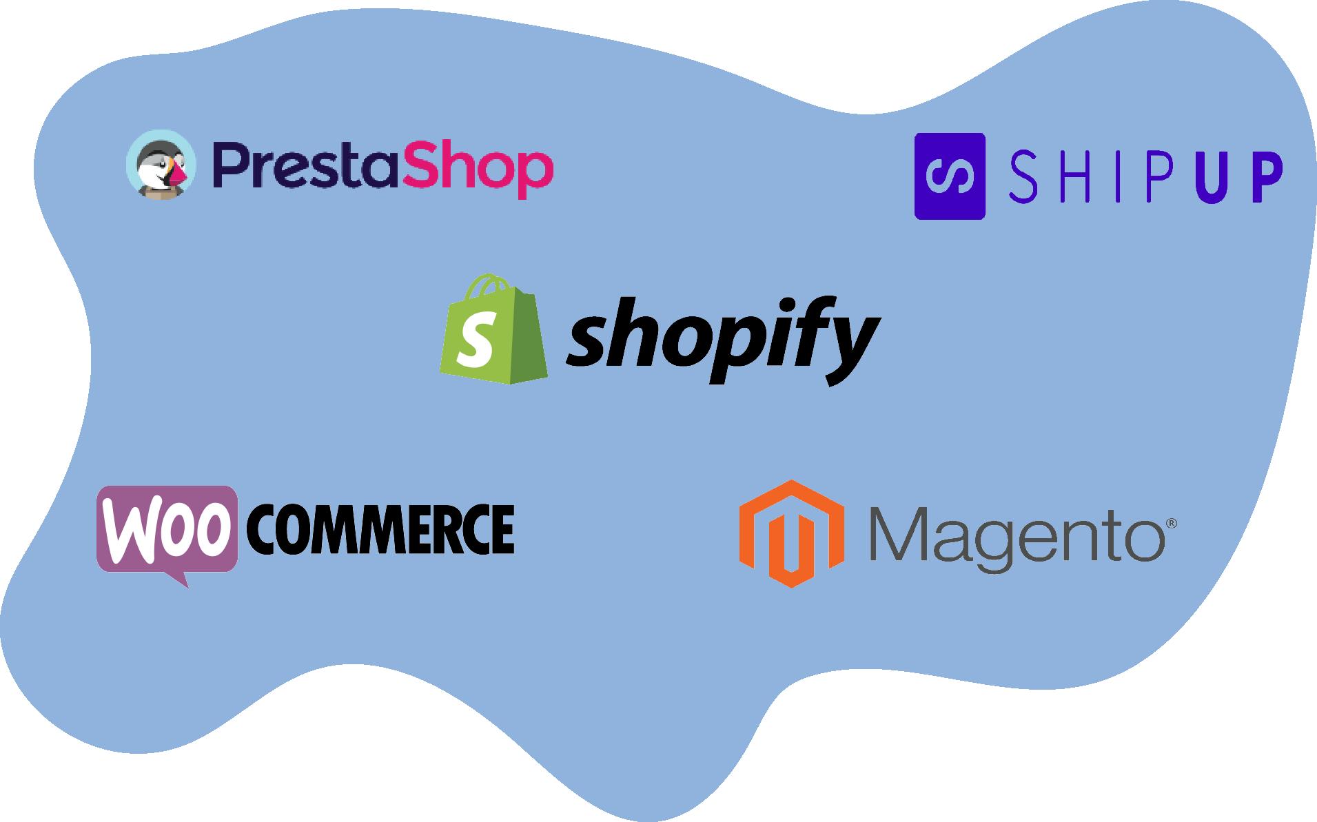La solution se plug aussi dans les CMS tels que Shopify, Woocomerce, Magento, Prestashop...