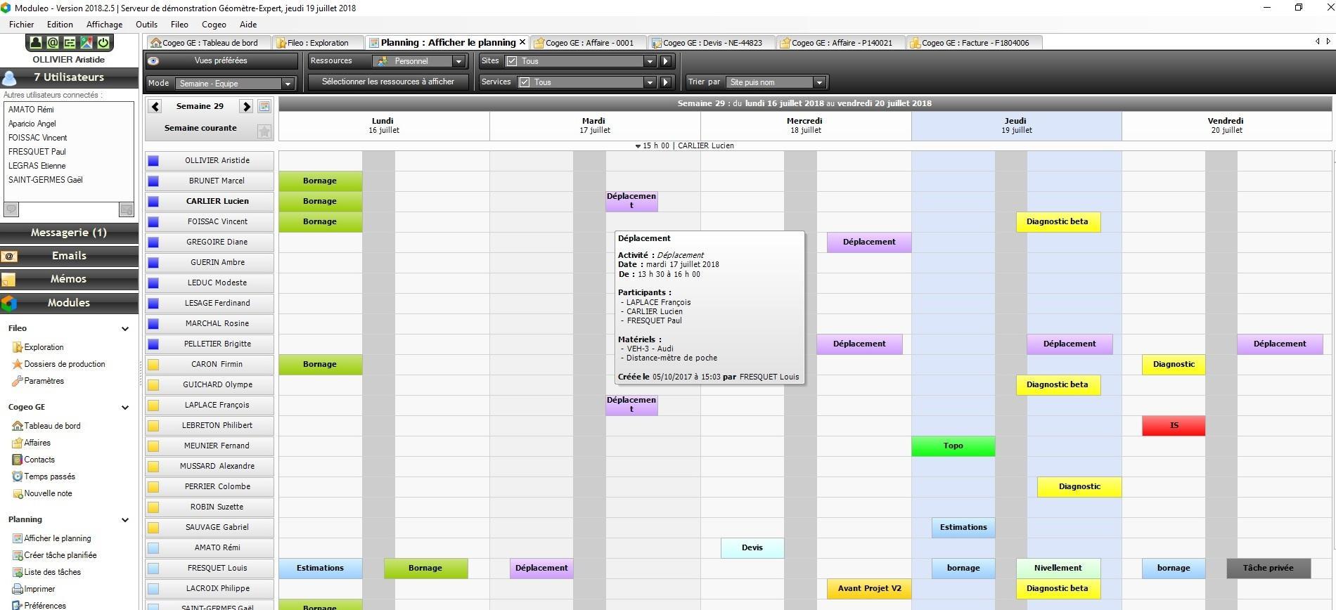 Planning Moduleo