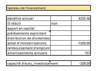 tableau de financement et capacité de financement