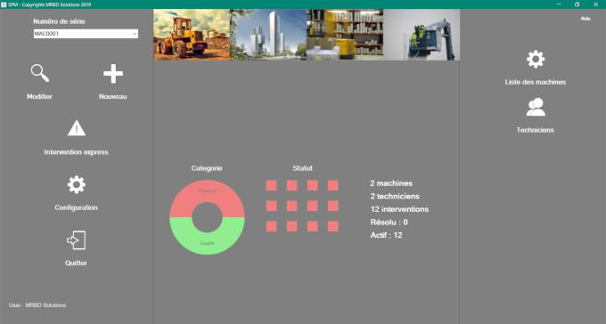 Interface d'accueil simple et modulable