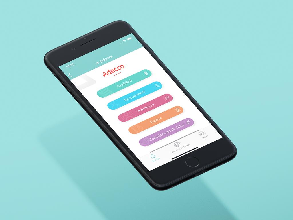 Application mobile d'Adecco